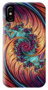 Double Fractal Spiral IPhone Case