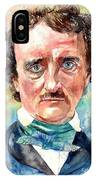 Edgar Allan Poe Portrait IPhone Case