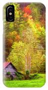 Embraced In Autumn Color Painting IPhone Case