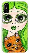 Emo Girl Green IPhone Case