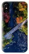Fall Aerial With Bridge IPhone Case
