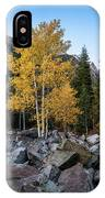 Fall Trees In The Rocks IPhone Case by James Udall