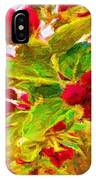 Festive Red Berries On Dancing Green Leaves IPhone Case