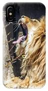 Fierce Yawn IPhone Case by Kate Brown