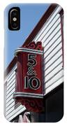 Five And Dime Store IPhone Case by Richard Reeve