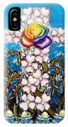 Floral Cross Rainbow Rose IPhone Case