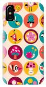 Flowers, Birds, Mushrooms & Snails IPhone Case
