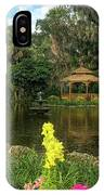 Flowers To Gazebo By The Lake IPhone Case by Claire Turner