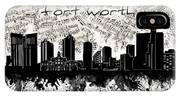 Fort Worth Skyline Music Sheet IPhone Case
