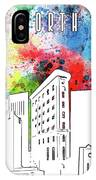 Fort Worth Skyline Panorama Watercolor IPhone Case
