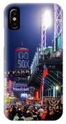 Game Night On Lansdowne Street 2018 World Series Red Sox Boston Ma IPhone Case