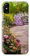 Path To The Garden Bench At Evergreen Arboretum IPhone Case by J Reynolds Dail