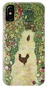 Garden With Chickens, 1916 IPhone Case