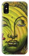Gautama Buddha Ripple Effect Portrait IPhone Case