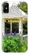 Gazebo In A Beautiful Public Garden Park 3 IPhone Case