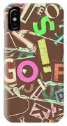 Golfing Print Press IPhone X Case