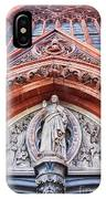Gothic Relief Sculpture On Church IPhone Case by Ariadna De Raadt
