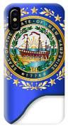 Grand Piano New Hampshire Flag IPhone Case