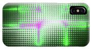Green Aluminum Sparkling Surface. Metallic Geometric Abstract Fashion Background. IPhone Case
