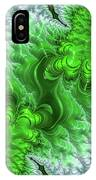 Green Frosty Canyon IPhone Case