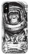 Hand Drawn Monkey Astronaut Vector IPhone Case