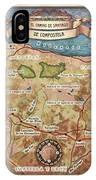 Hiking Map El Camino Spain Map Custom Map Art IPhone Case