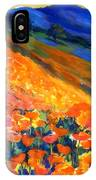 Hillside Poppy Burst IPhone Case