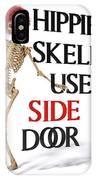 Hippie Skeletons Use Side Door IPhone X Case