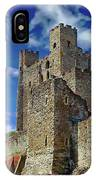 Historic Rochester Castle IPhone Case by Anthony Dezenzio