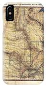 Historical Map Hand Painted Arkansaws Territory IPhone Case