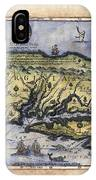 Historical Map Hand Painted Drake Virginia IPhone Case