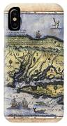 Historical Map Hand Painted Italy Vintage IPhone Case