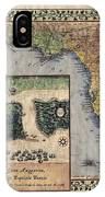 Historical Map Hand Painted St. Augustine IPhone Case