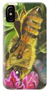Honey Bee On Mexican Heather IPhone Case