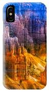 Hoodoo's Rainbow Color Mix Bryce Canyon  IPhone Case