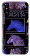Horses Poster IPhone Case