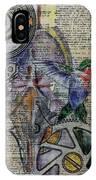 Hummingbird IPhone Case by Jillian Goldberg