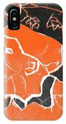 I Was Born In A Mine Woodcut 48 IPhone Case