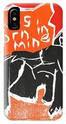 I Was Born In A Mine Woodcut 55 IPhone Case