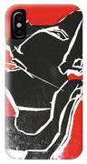 I Was Born In A Mine Woodcut 7 IPhone Case