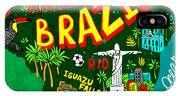 Illustrated Map Of Brazil IPhone X Case