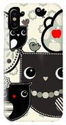 Illustration Of Owls In The Woods IPhone Case