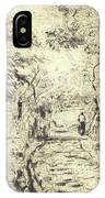 In The Fields At Ennery, 1875 IPhone Case