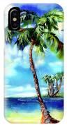 Island Solitude Palm Tree And Sunny Beach IPhone X Case