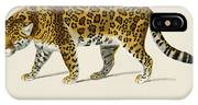 Jaguar  Panthera Onca  Illustrated By Charles Dessalines D' Orbigny  1806-1876  IPhone Case