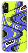 Janca Yellow And Blue Wave Abstract, IPhone Case