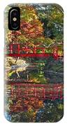 Japanese Garden Red Bridge Reflection IPhone Case