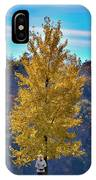 Jogger On Trail In Fall IPhone Case by Dan Friend
