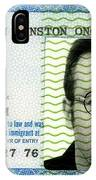 John Lennon Immigration Green Card 1976 IPhone Case