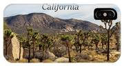 Joshua Tree National Park Valley, California IPhone Case